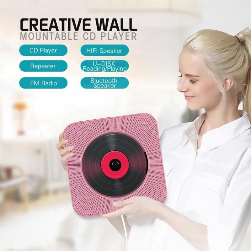 Wall Mountable CD Player Bluetooth Home Audio Boombox With Remote Control Built-in HiFi Speakers FM Radio USB MP3 Music Player enlarge