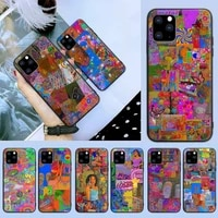 indie kid fashion phone case for iphone 6 7 8 plus 11 12 promax x xr xs se max back cover