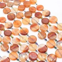 2strandslot 23 mm natural dark orange glossy round agate for diy necklace jewelry making loose 15 free shipping