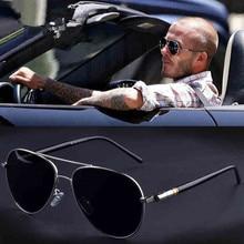 Aviation Metail Frame Quality Oversized Spring Leg Alloy Men Sunglasses Polarized Brand Design Pilot
