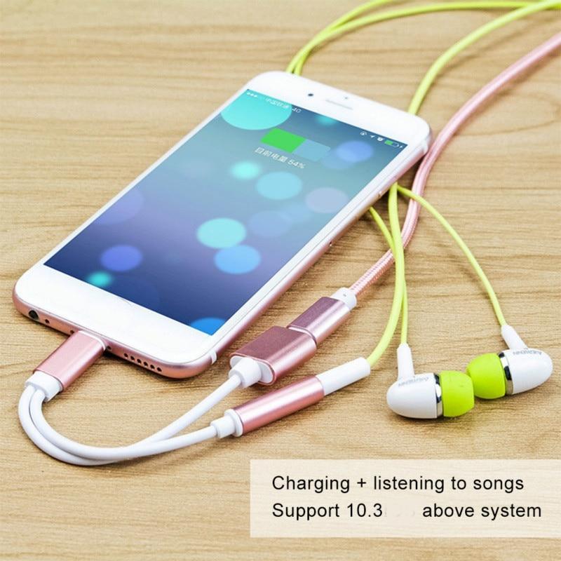 Cables adaptadores para conector de carga de Audio de Apple, para iphone...