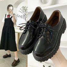 Новый вышивать из лакированной кожи, женская кожаная обувь, на шнуровке, круглый носок обувь в стиле Дерби большой носок, в британском стиле, на толстой мягкой подошве Brogure на плоской подошве для женщин Обувь без каблука      АлиЭкспресс