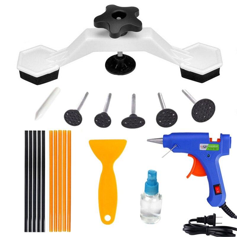 Car Body Dent Repair Kit Paintless Dent Puller Tool With Hot Melt Glue Gun Stick Auto Body Repair Tools Dent Removal Tool Kit