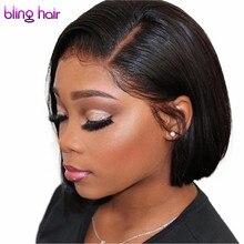 Short Bob Human Hair Wigs Brazilian Straight Lace Front Human Hair Wigs 4x4 Lace Closure Wigs Pre Plucked Cheap Wholesale Wigs
