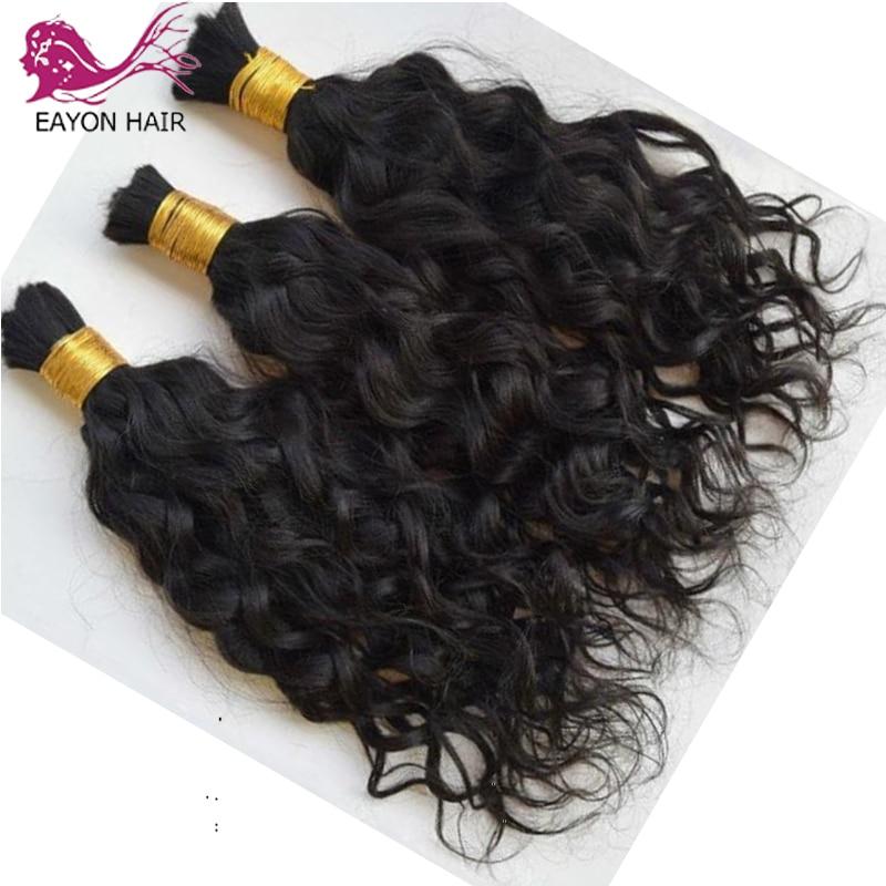 EAYON Brazilian Loose Wave Hair Bulk 3Pcs/Lot Wet and Wavy Human Hair Bulk For Braiding No Weft Braids Extensions Bundles 1#2#4#