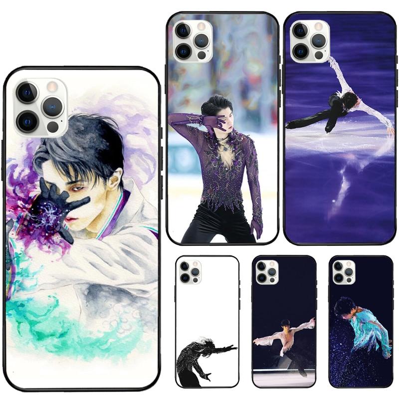 Patinação japonesa príncipe yuzuru hanyu borracha caso do telefone para o iphone 12 11 pro max mini xs x xr 7 8 plus se 2020 capa macia