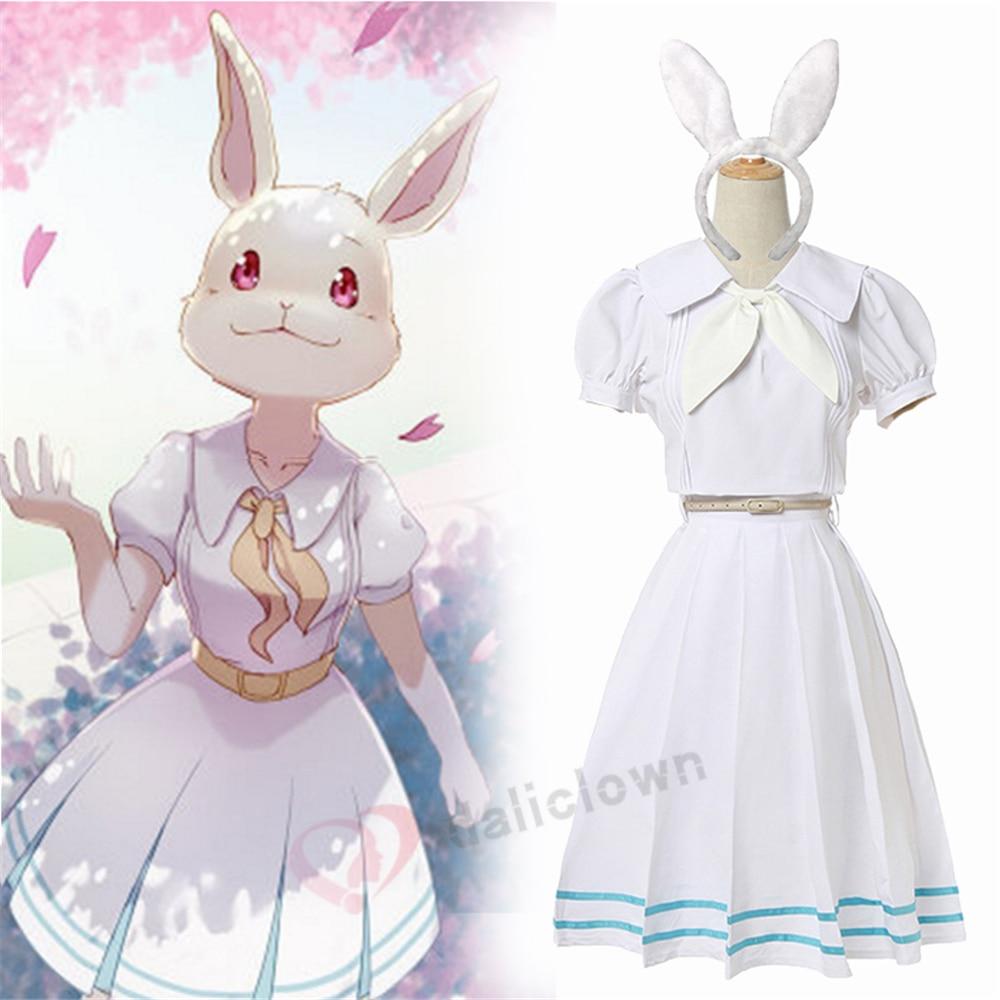 Женский костюм для косплея «Beastars» из аниме «Beastars», школьная форма Хару с париком, милое японское платье с кроликом для девочек, 2020