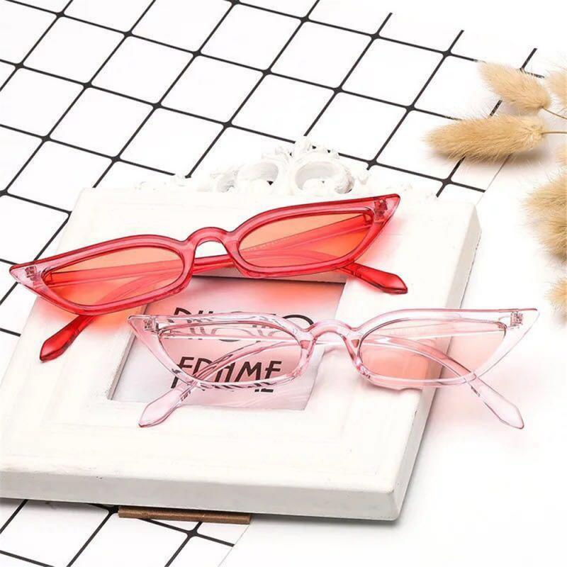 Cute Sexy Retro Cat Eye Sunglasses Women Triangle Vintage Cheap Ladies Sun Glasses Red Female UV400