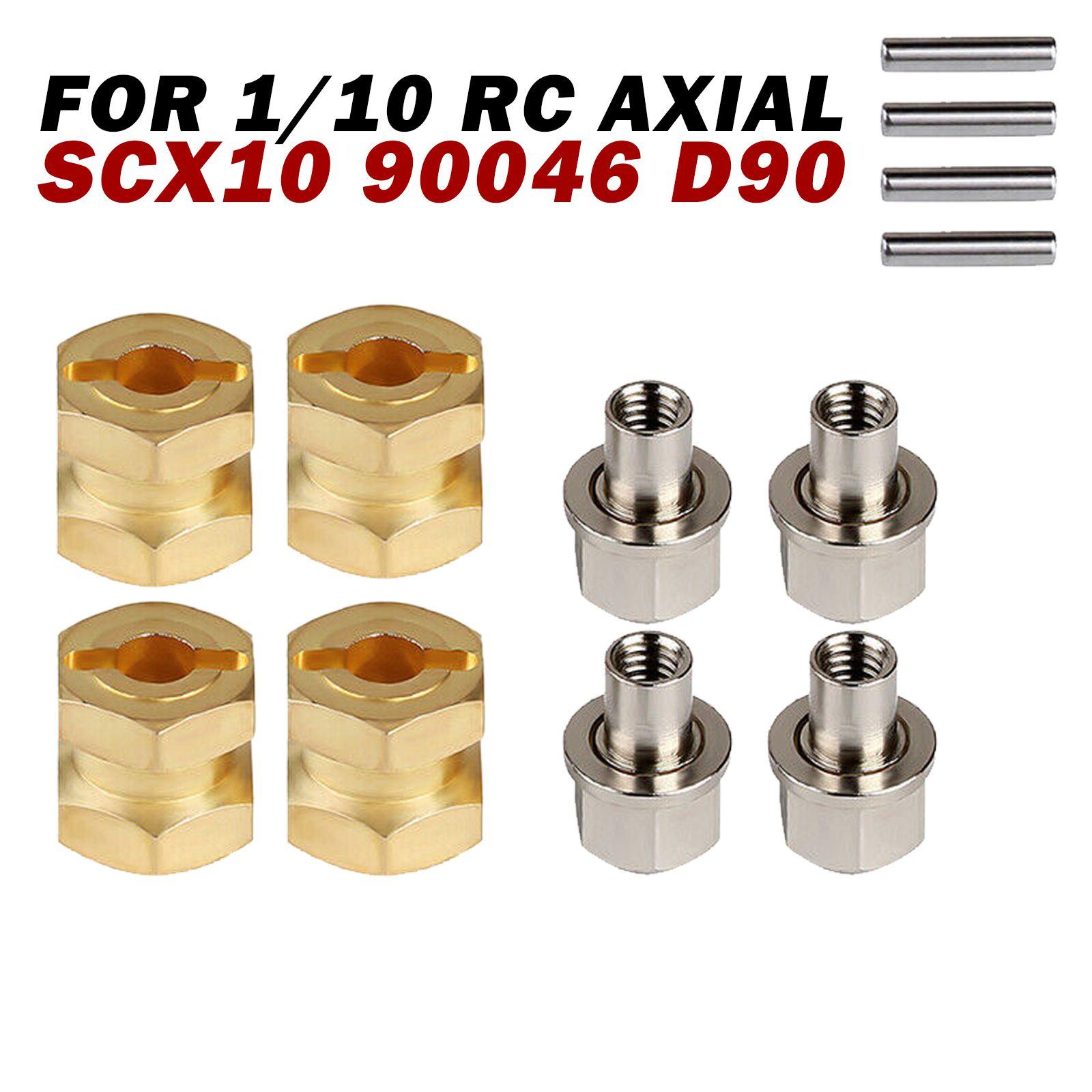 12 мм тяжелый латунный шестигранный удлиненный адаптер для 1/10 Axial SCX10 90046 D90 радиоуправляемые автомобильные детали