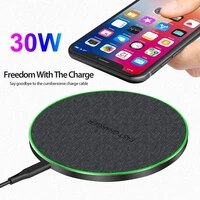 30w qi wireless charger induction type c fast charging pad for iphone 11 pro xs x xr 8 for samsung s20 s10