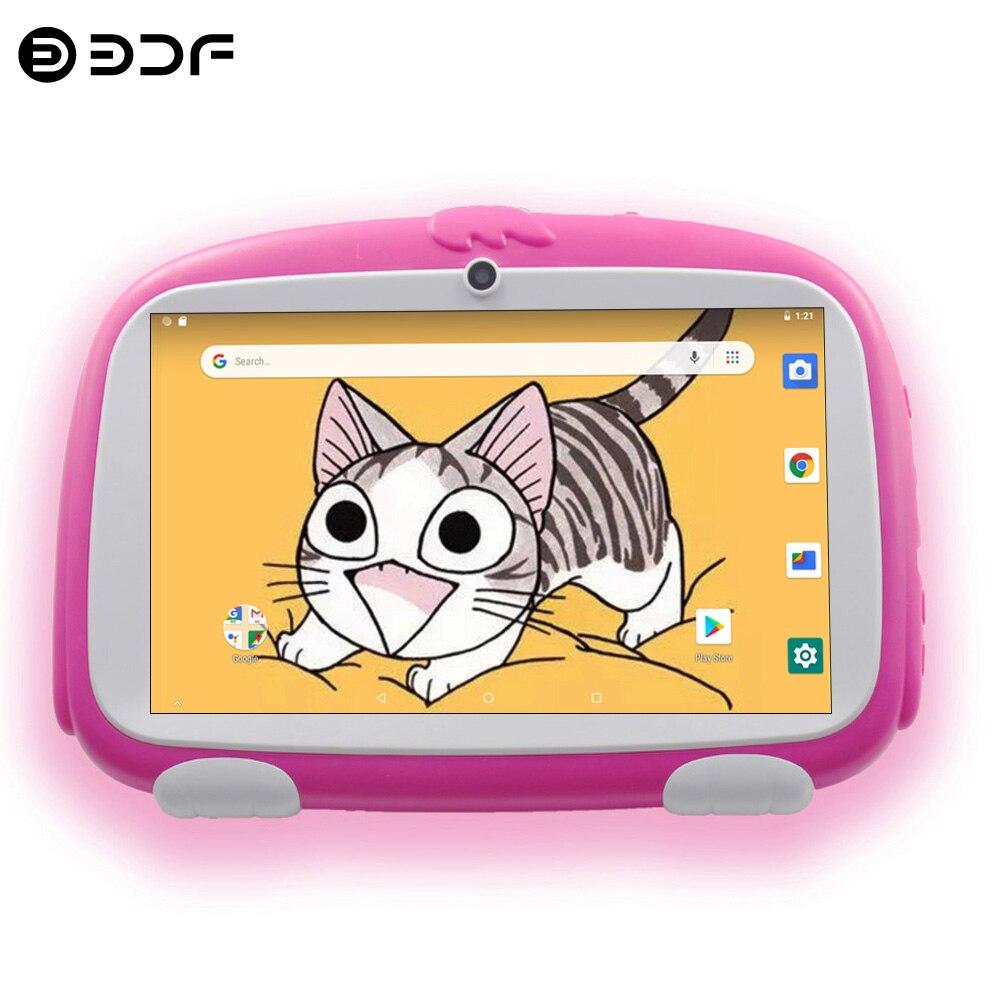 جديد الاطفال أقراص 7 بوصة أندرويد 8.0 رباعية النواة 16 جيجابايت ROM لوحة صغيرة جوجل اللعب واي فاي بلوتوث كاميرا مزدوجة للأطفال اللوحي