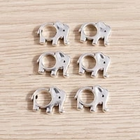 15pcs 1714mm cute alloy elephant charms connectors for jewelry making diy bracelets loose spacer beads handmade craft accessory