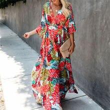 Boêmio impresso kaftan mulher beachwear algodão túnica praia cobrir saida de praia maiô bikini cover-ups pareo sarong # q944