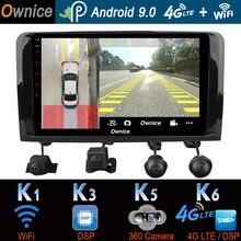 1Din 360 ° 카메라 4G LTE 안 드 로이드 9.0 4GB + 64GB SPDIF DSP CarPlay 자동차 멀티미디어 플레이어 메르세데스 벤츠 ML GL W164 X164 GPS 라디오