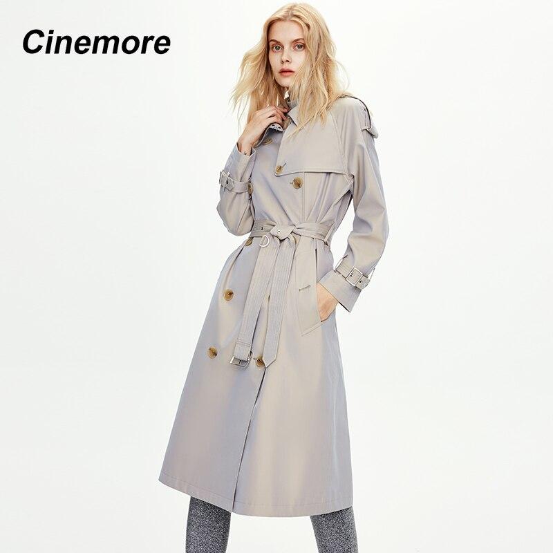 سيروم-معطف واق من المطر جديد لخريف 2020 ، معطف نسائي كلاسيكي مزدوج الصدر طويل فوق الركبة ، معاطف نسائية ، ملابس عمل بريطانية 82002
