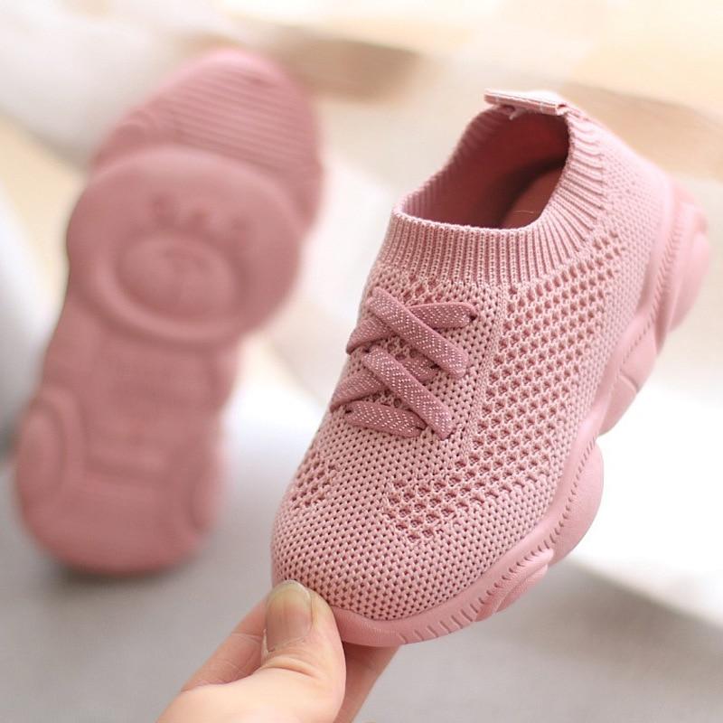 Kids Shoes Antislip Soft Bottom Baby Sneaker Casual Flat Sneakers Shoes Children size Girls Boys Spo