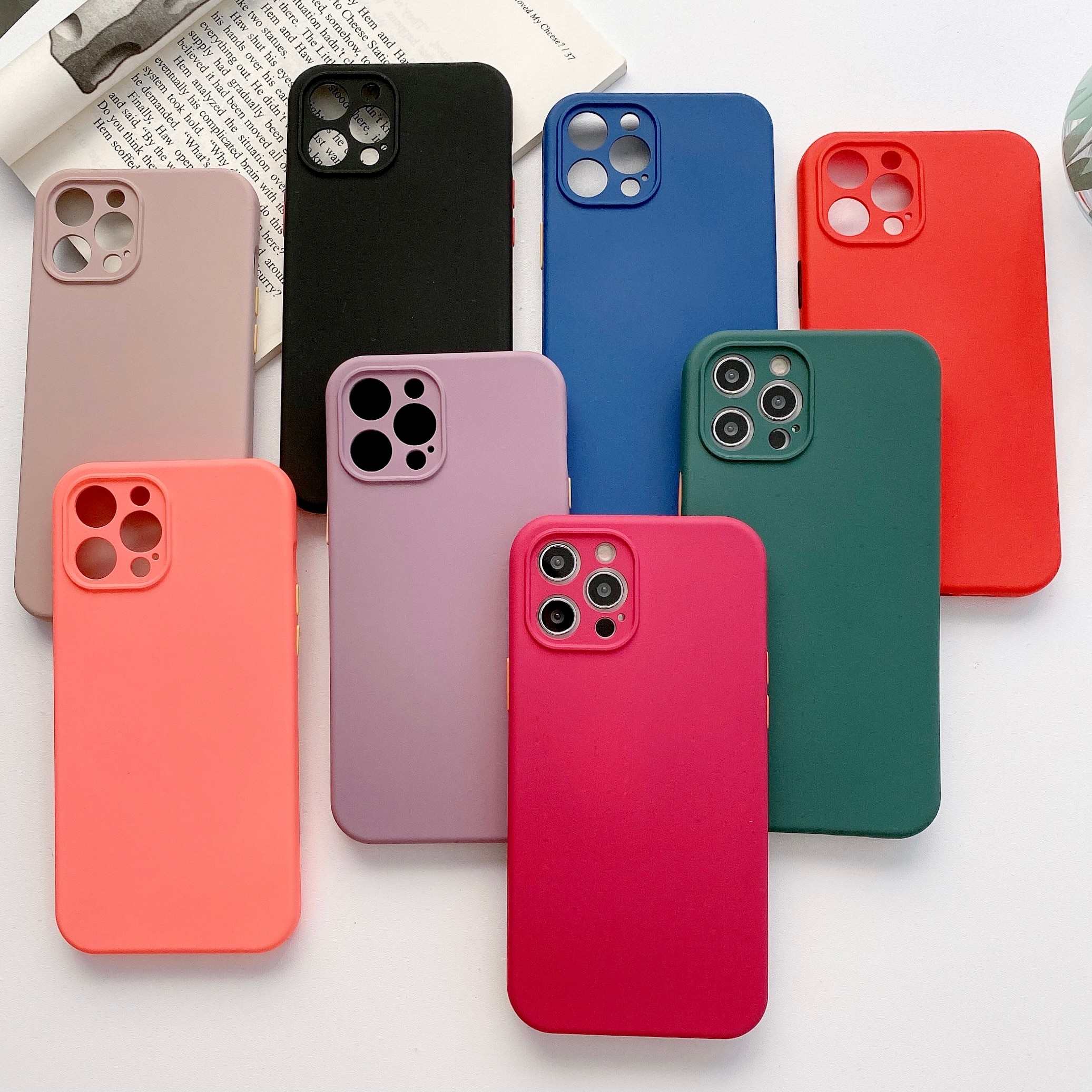 TMWBBT Silicone Luxury Case For Apple iPhone 12 11 Pro Max mini SE 2020 X XR XS Max 7 8 Plus Card St