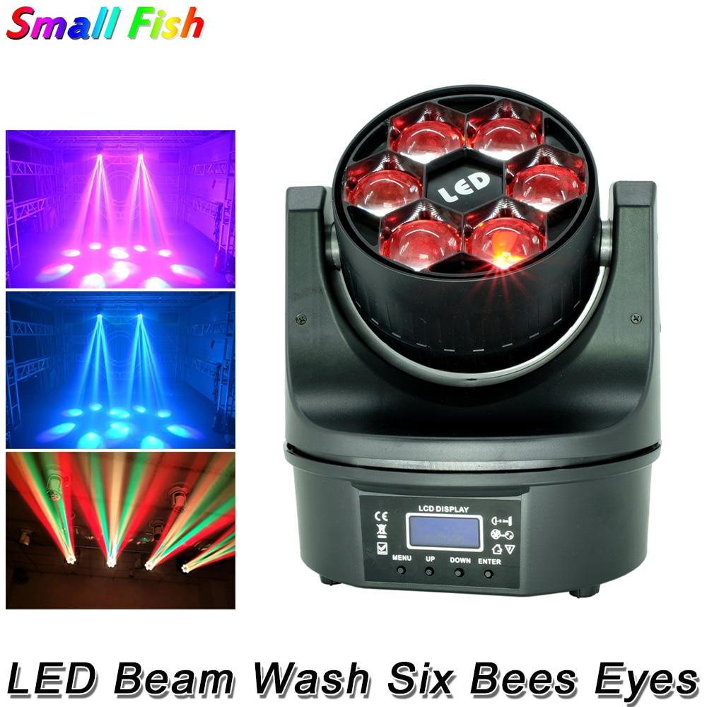 6x15w 4 في 1 RGBW DMX512 LED شعاع غسيل احترافي للديسكو ، إضاءة احترافية للمسرح مع ستة عيون نوادي بار