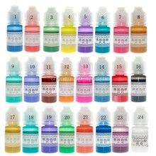 Résine époxy 24 couleurs translucide   Pigment liquide, teinture résine bijoux fabrication N04 19 livraison directe