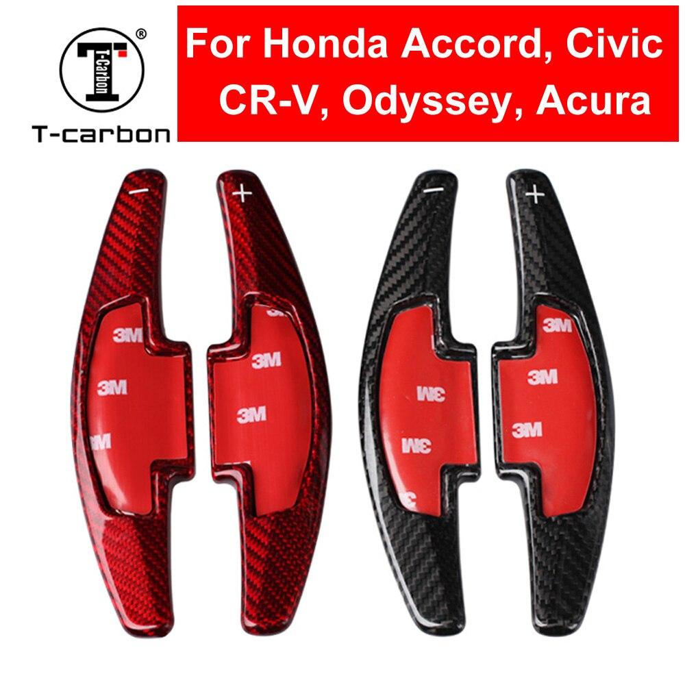 Diseño de coche Real fibra de carbono volante Cambio de paleta extensión de cambio para Honda Accord CR-V Civic Odyssey Acura accesorio
