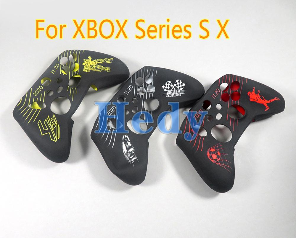 50pcs-for-xbox-series-x-s-game-pattern-protector-silicone-rubber-soft-gamepad-handle-case-skin-cover-grip-handle-console