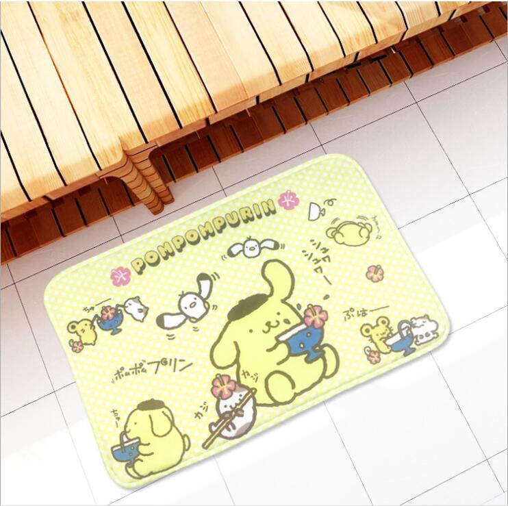 Мультяшный помпури пудинг собака печать плюшевый коврик для ног дверной коврик ковер плюшевая игрушка 3048