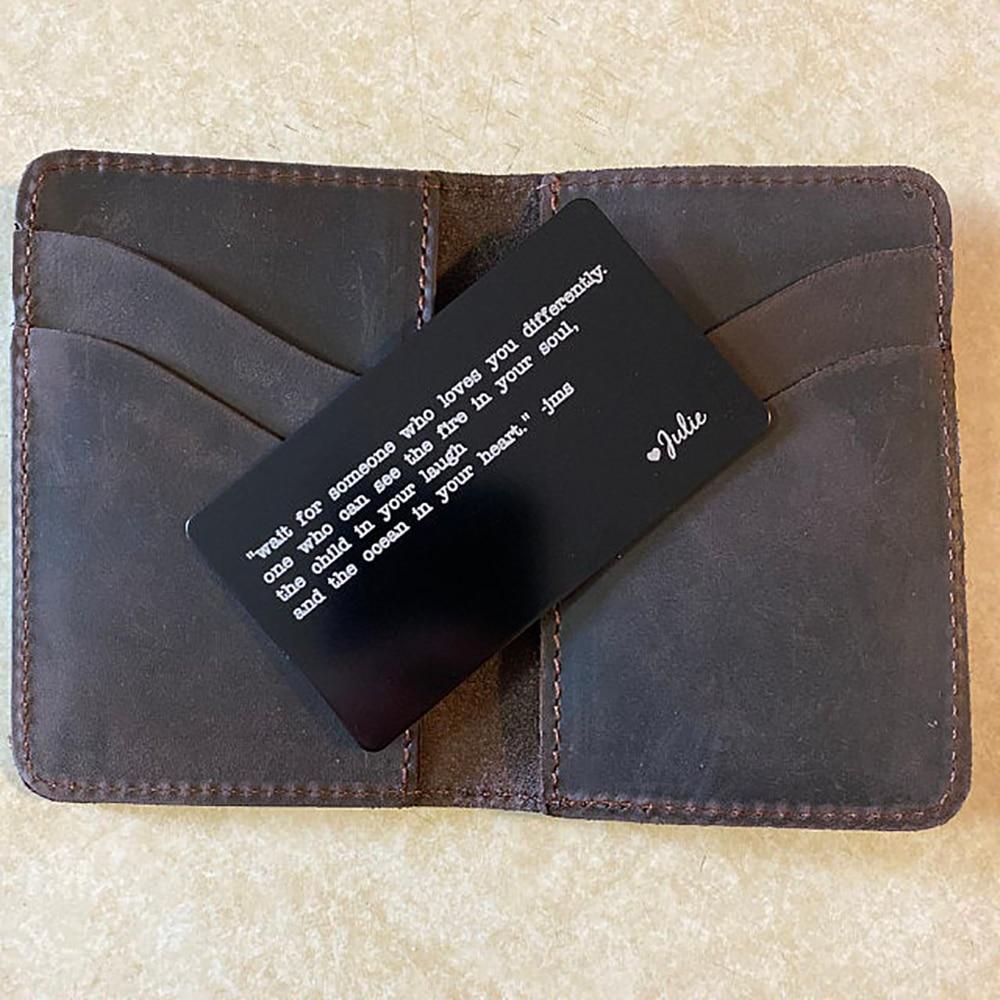 Fils пользовательские кошелек, с отделением для карт, изготовление на заказ со словом рисунком именем логотипом Нержавеющаясталь кошелек, с ...