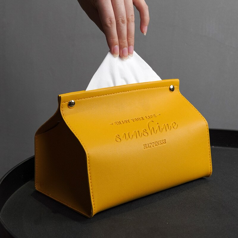 Из искусственной кожи прямоугольная коробка для салфеток, чехол для салфеток для лица, диспенсер для салфеток, водонепроницаемая и многофу...