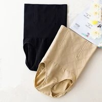 women postpartum high waist seamless briefs elastic tummy control panties shapewear body shaper fish bone waist trainer lingerie