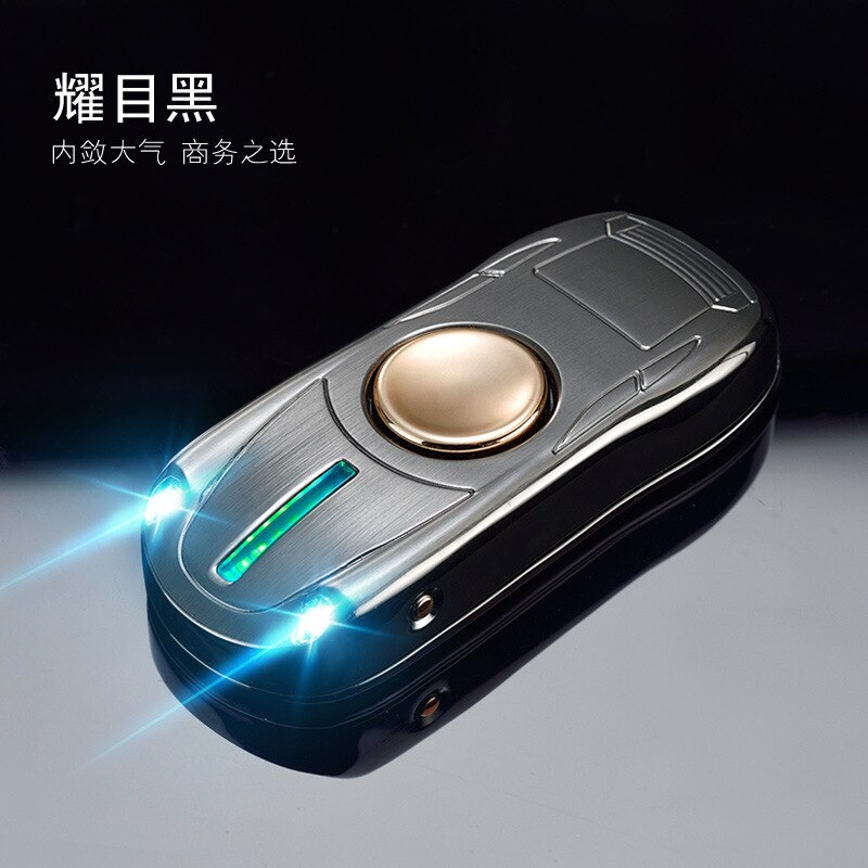 Fingertip Gyro Glow In Dark Light USB Charging Lighters Fidget Hand Spinner Top Spinners Stress Cigarette Accessorie Men Gift E enlarge