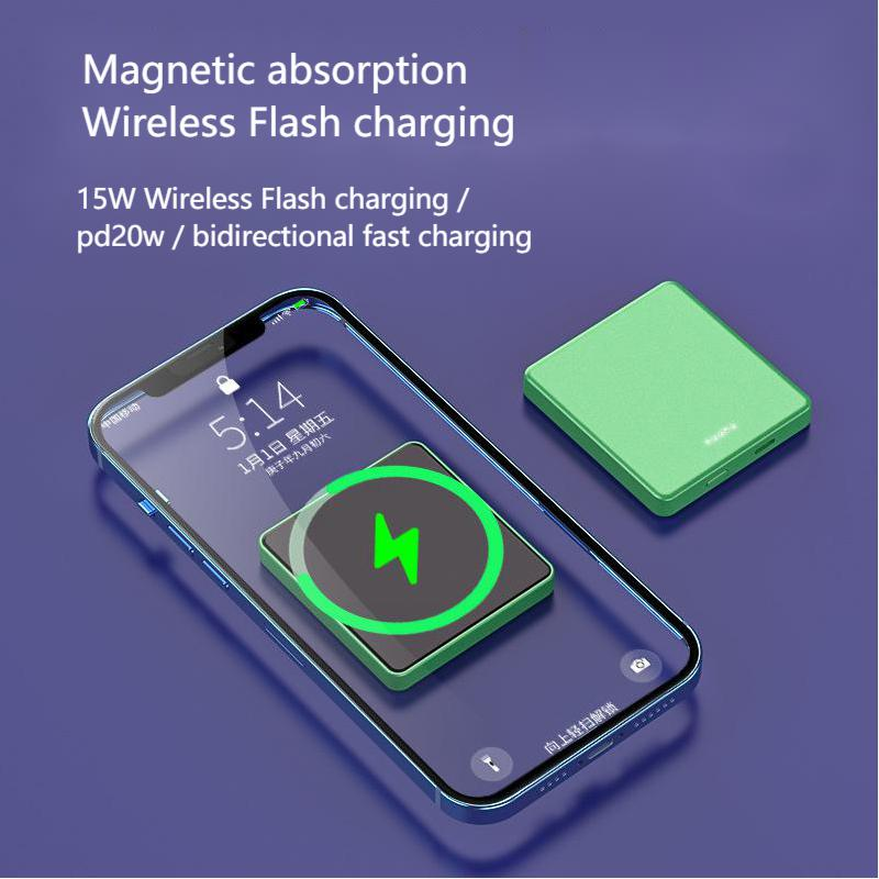 15W Magnetic Charger Power Bank For Magsafe Iphone12pro Max Mini Wireless Charging PD20w Powerbank 1