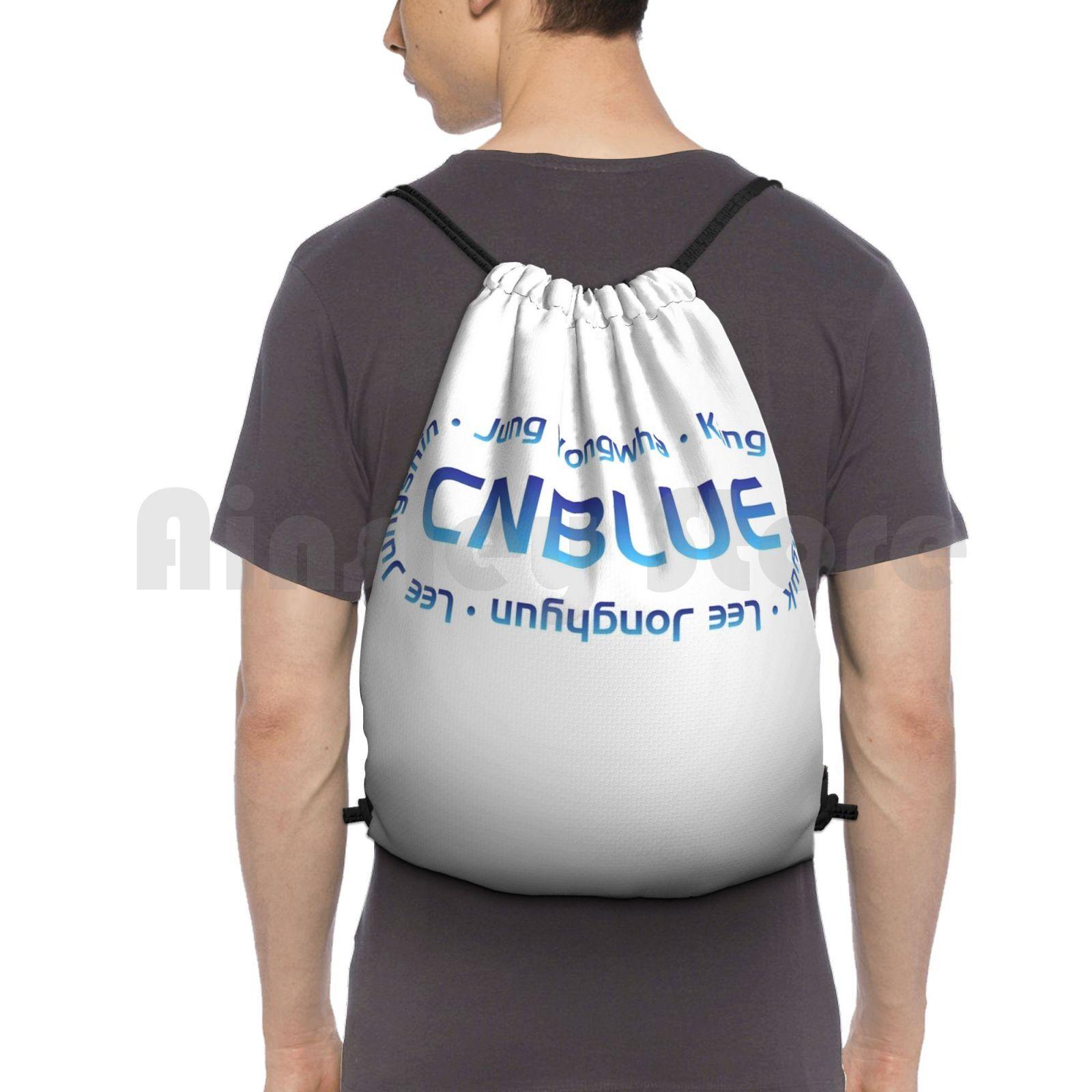 Cnblue رباط سحب لحقيبة ظهر حقيبة قاعة رياضة مقاوم للماء Cnblue Yongwha Jung Yongwha Jonghyun لي Jonghyun Minhyuk كانغ Minhyuk