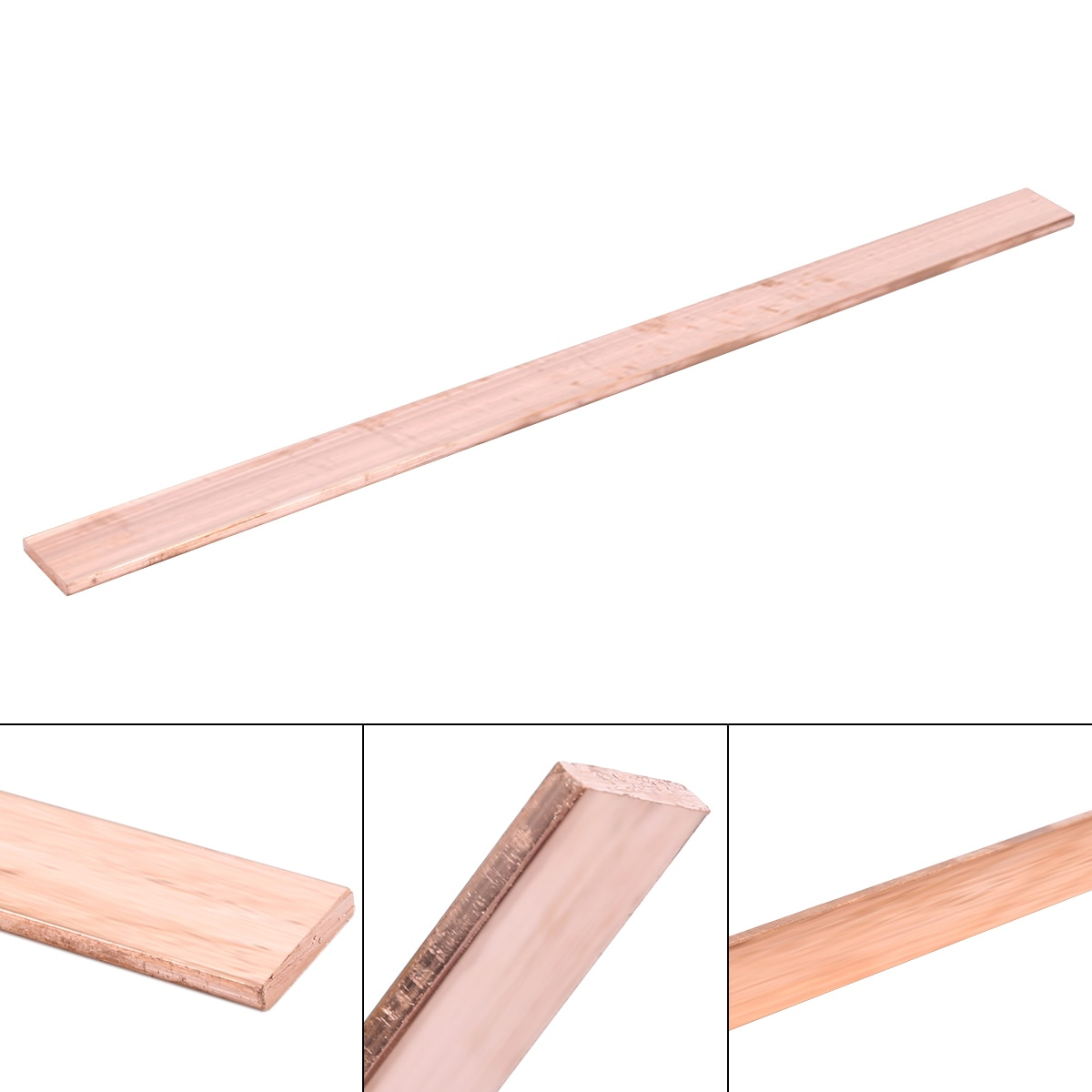 1pc 3mm Dikte Koperen Strip 99.6% Pure Metalen Plaat T2 Paars Cu Platte Bar 15*250mm industrie DIY Plaat voor CNC