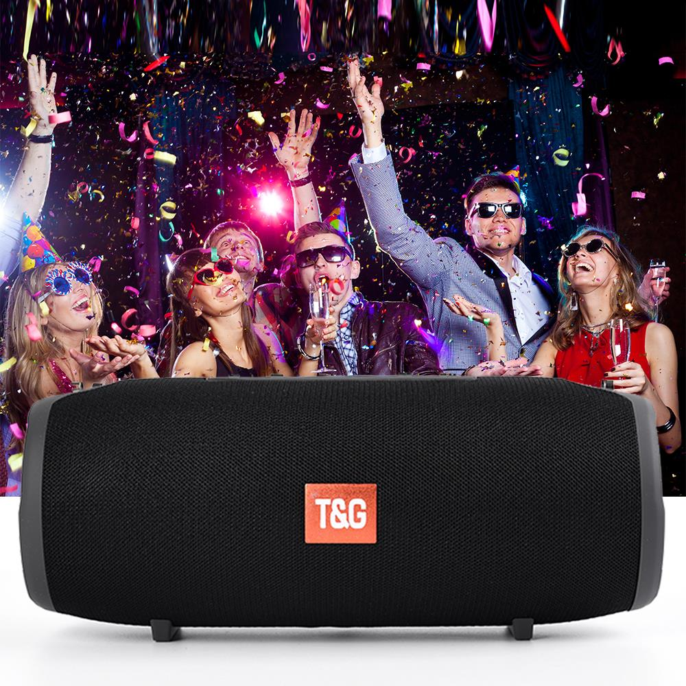 Altavoz Bluetooth TG118, reproductor De música portátil con Radio FM, Subwoofer, Boombox,...