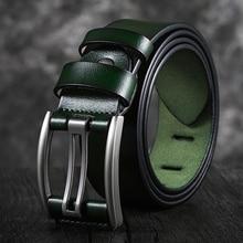 Genuine Leather Belt Male Black/Green/Blue/Coffee High Quality Belt Vintage Men Belts Cummerbunds 90