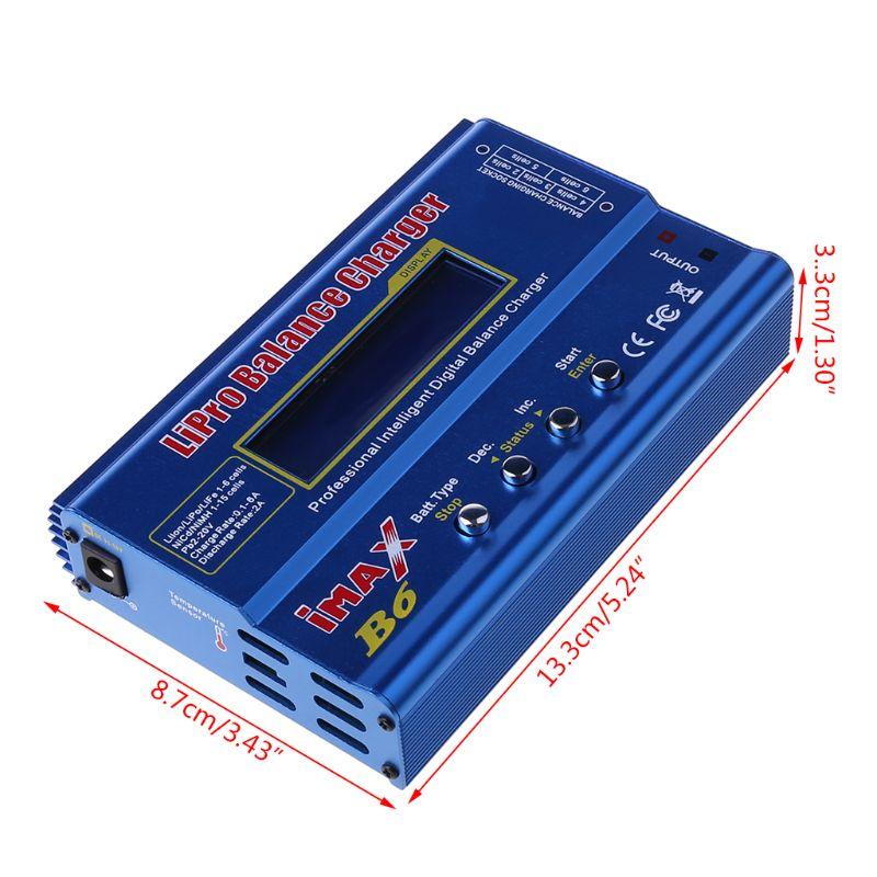IMAX B6 80W Batterie Ladegerät Lipo NiMh Li-Ion Ni-Cd Digital RC IMAX B6 Lipro Balance Ladegerät Entlader + 15V 6A Adapter 090F