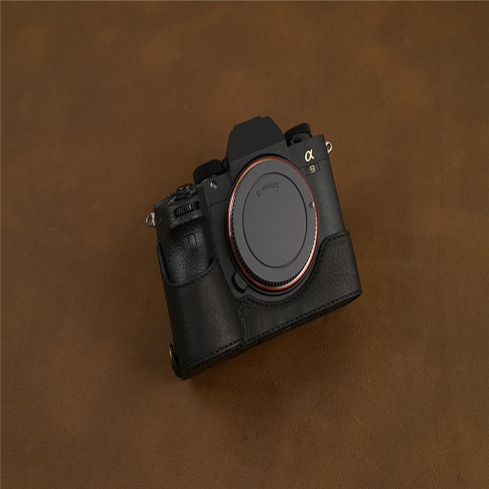 Funda protectora para cámara, funda de piel de alta calidad para Sony A7R4 A7RM4 A7RIV A74, accesorios