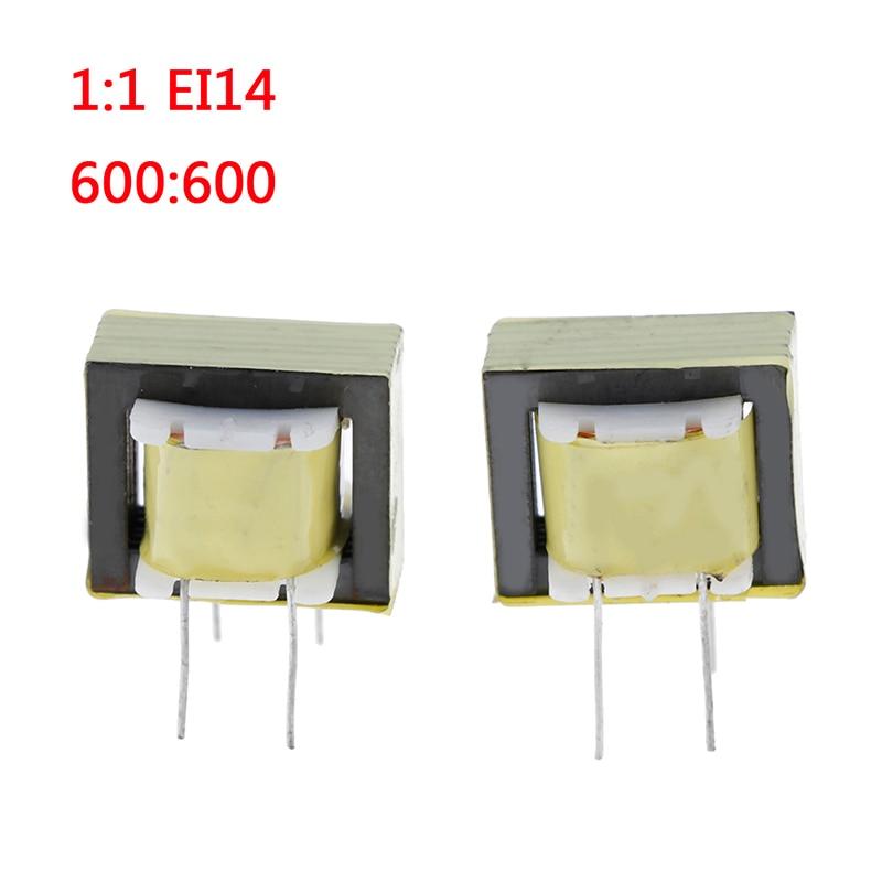2 uds. 1:1 EI14 transformador de aislamiento transformadores de Audio 600: 600 Ohm Europa
