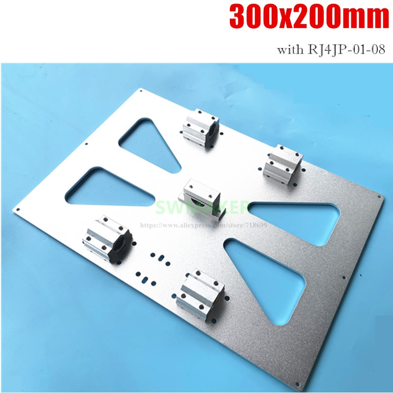 طابعة Prusa i3 RepRap ثلاثية الأبعاد كبيرة الحجم ، لوح تثبيت مسخن من سبائك الألومنيوم ، Y ، لوح نقل XL 300 × 200 مم