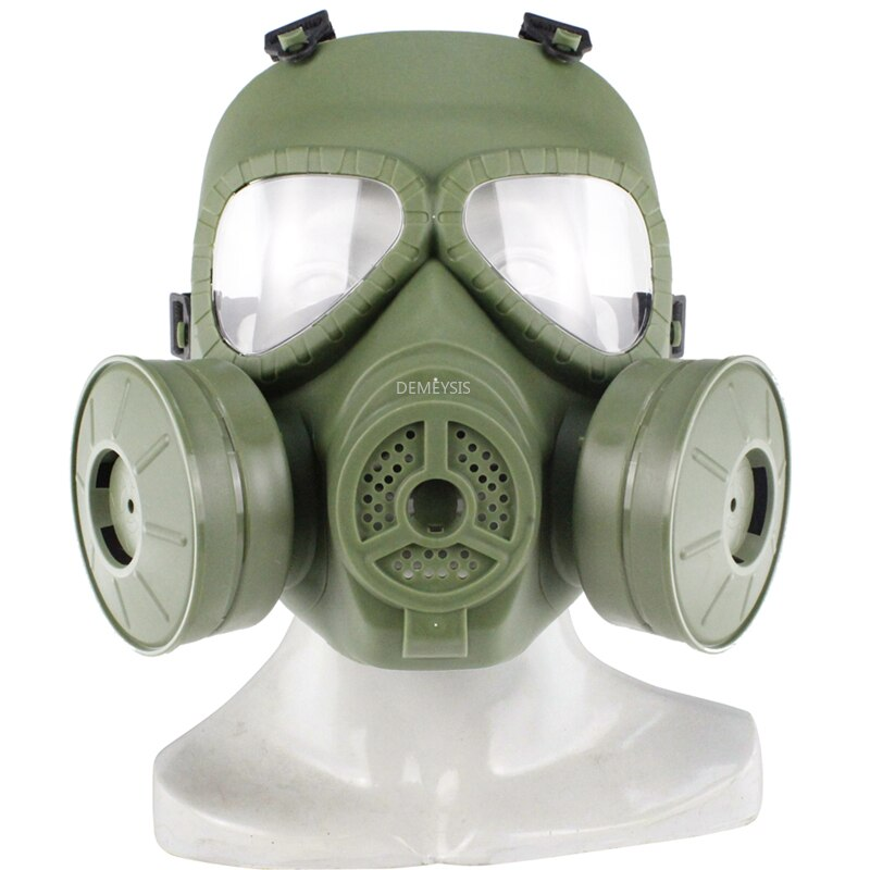 Tactical Gas Mask Military Airsoft Paintball Sports Anti-fog Full Face Mask Army Combat CS Wargame Breathable Skull Mask недорого