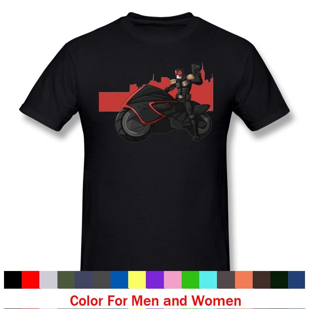 Camiseta de Judge Dredd, camiseta de manga corta con gráfico, camiseta divertida de algodón de verano para hombre, ropa de calle