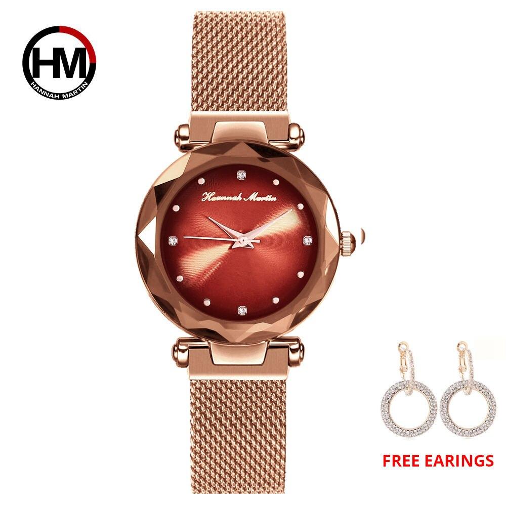 1 set Women Watch MIYOTA Starry sky mesh belt Watches Magnet Buckle Fashion Casual Female Wristwatch Waterproof Relogio Feminino