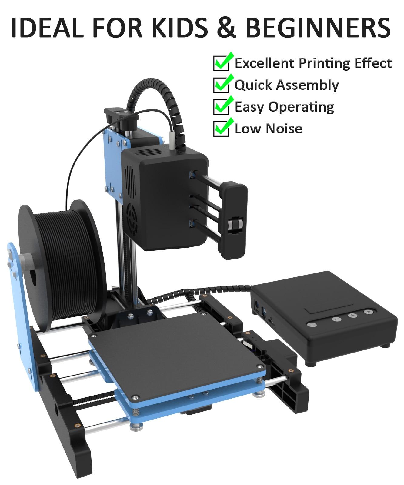 طابعة صغيرة ثلاثية الأبعاد لا يسخن السرير معدات طباعة مفتاح واحد مع TF بطاقة PLA خيوط آلة طباعة بسيطة
