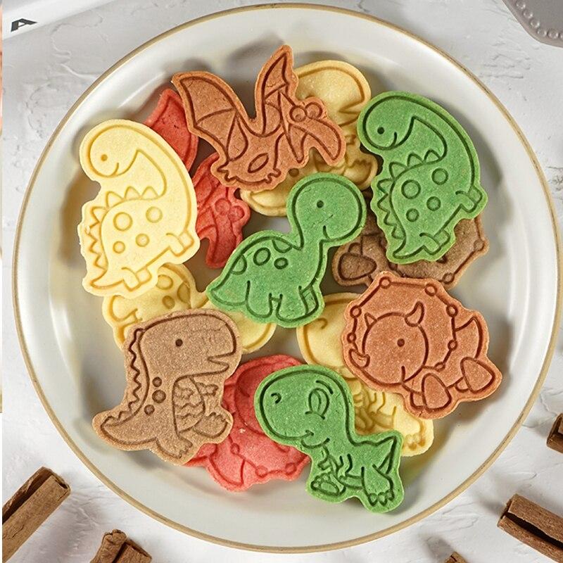 Форма для печенья в виде динозавра, торта, помадки, резака, печенья, печенья, форма для печенья
