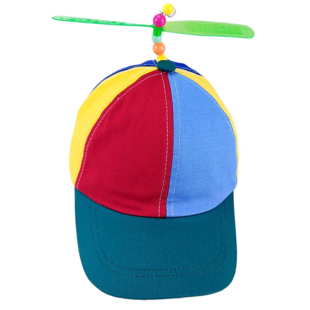 Sombrero de hélice colorido de retales divertidos sombreros de béisbol hélice bambú Dragonfly sombrero de sol niños niñas padre Snapback sombrero