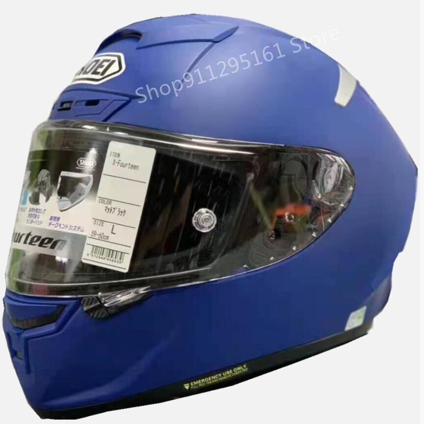 rosto cheio capacete da motocicleta x14 matte azul material capacete preto formiga