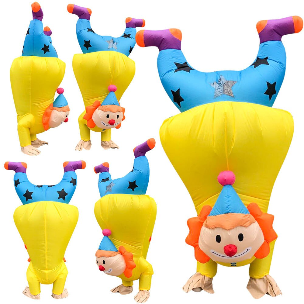 Clown Stage Show Clothes Halloween Handstand Clown Inflatable Costume Creative Activity Performance Clown Model Suit Fun Party christms decoration inflatable clown