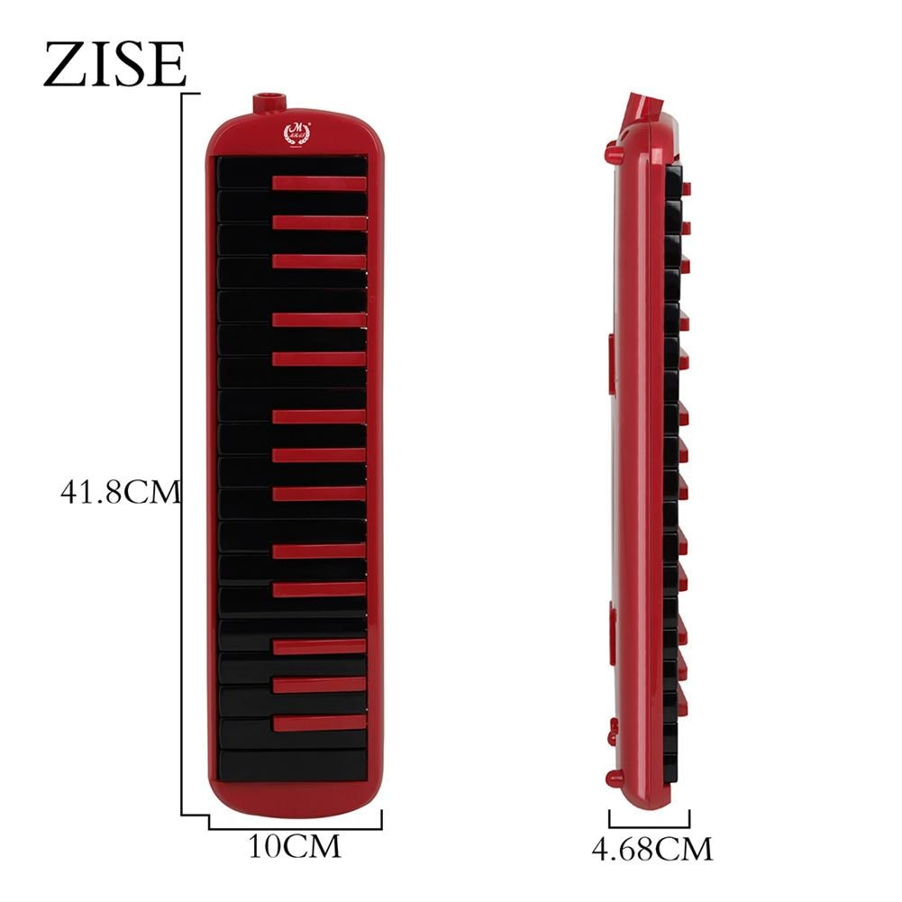 1 مجموعة 32 مفتاح البيانو لهجة اللعب مع هارمونيكا البيانو حقيبة Abs + النحاس بموجه الصوت الراقية الأحمر والأسود اللون
