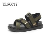 Woman Sandals Shoes Slippers Flats Platform Beach Non-slip Flip Flops Summer Hook & Loop Fashion Casual Comfortable
