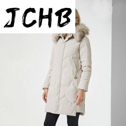 JCBC 2021 Women's Down Jacket Winter Coat Female Jacket Warm Hooded Parkas Woman Raccoon Dog Fur Collar Mujeres Abrigos 1370
